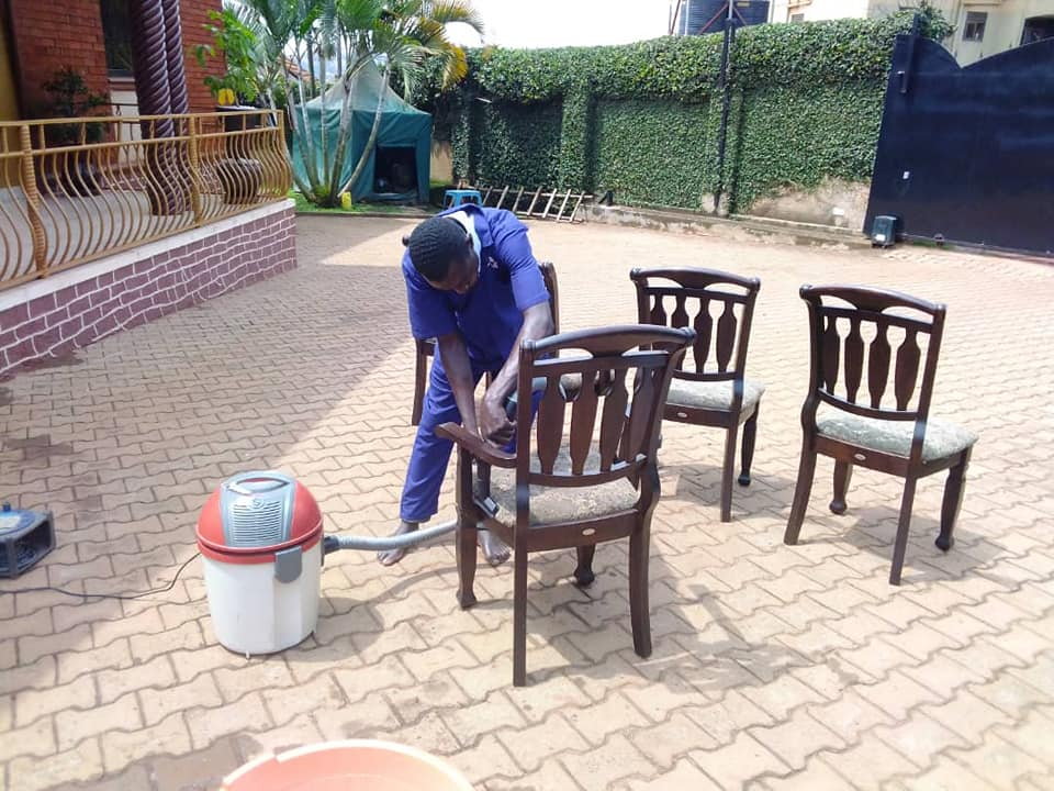 Dining seat cleaning
